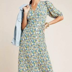 Faithful the brand Marta midi dress 6 NWT